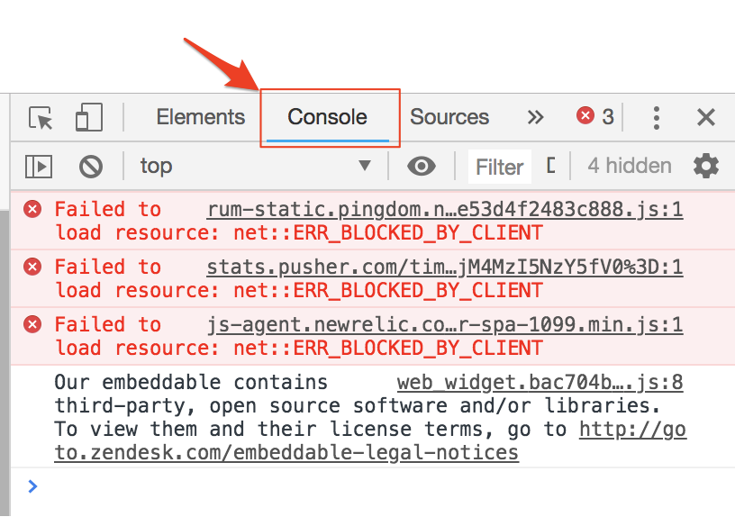 How to Open the Developer Console in your Browser – Support