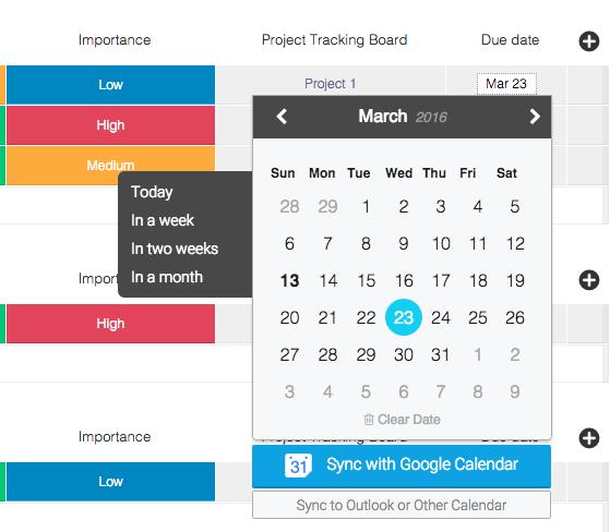 work week calendar